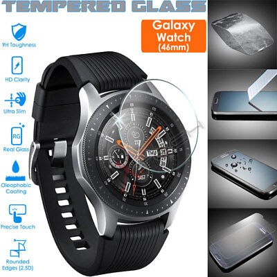 Genuine TEMPERED GLASS Screen Protector Cover For SAMSUNG Galaxy Watch 46mm