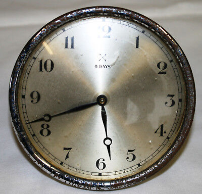 Working Antique HAC Floating Balance Clock Movement + Dial Glass & Back Plate