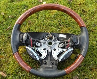 Rover 75 walnut and black sports leather steering wheel
