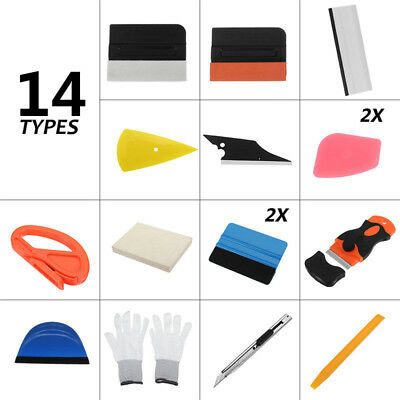 New Car Wrap Vinyl Tools Kit Scratch-free Squeegee Scraper Razor Glove 4 Magnets