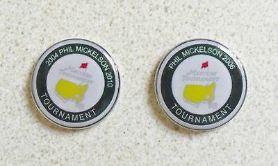 2 Only Phil Mickelson 2004/2006/2010  Golf Ball Markers-  Divot Tool &  Hat Clip