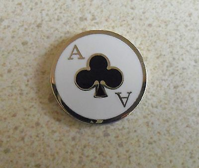 1 only ACE OF CLUBS GOLF BALL MARKER approx 23mm