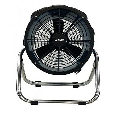 """XPOWER X-34ASR - 14"""" 1720 CFM Axial Fan Air Mover Stainless Steel Stand"""