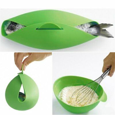 Home Kitchen Microwave Oven Steamer Tools Soft-paste Silicone Folding BowlNJ