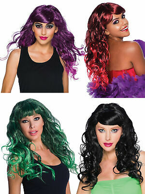 Ladies Gothic Temptress Wig Adults Halloween Witch Vampire Fancy Dress Accessory