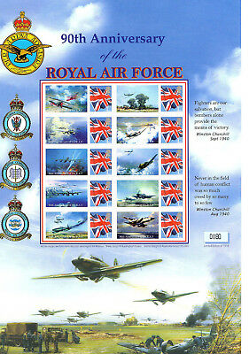 Stamp Sheet: Buckingham: 90Th Anniversary Of The Royal Air Force