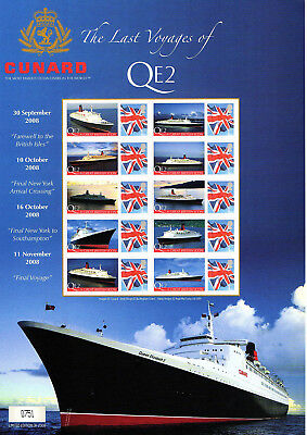 Stamp Sheet: Buckingham - The Last Voyages Of The Qe2