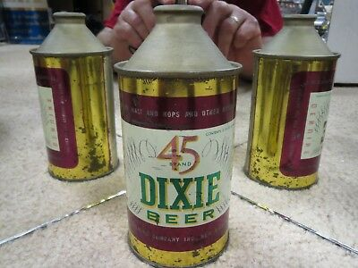 Dixie 45 Beer Cone Top Beer Can