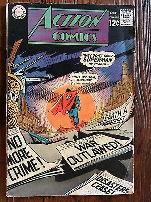 Action Comics #368, DC Comics, 1965 Superman
