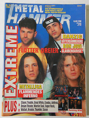 Metal Hammer Nr.10/1992,Metallica,Slayer,Anthrax,Exodus,Kreator,Dream Theater+po