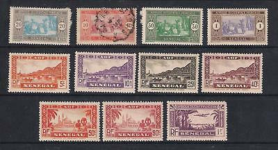 Senegal stamps - 11 old mainly mounted mint stamps