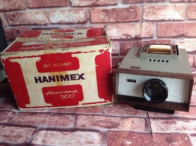 HANORAMA 300 Hanimex Vintage Electric Slide Projector Boxed And Tested