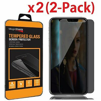 2X HD Privacy Anti-Spy Tempered Glass Screen Protector for iPhone X XS Max XR