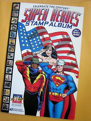 SUPER HEROS Stamp Album Celebrate the Century No. 5, 1999 from USPS, EXCELLENT!
