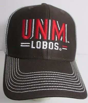 best loved a42e0 31812 UNM Lobos Univ New Mexico Hat Cap Trucker Snapback USA NCAA Embroidery NCAA  New