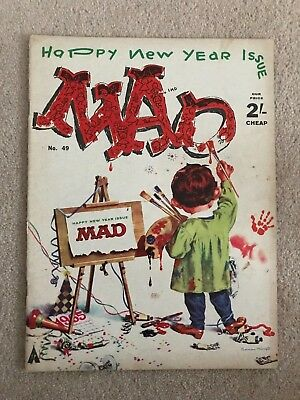 Mad Magazine, # 49, Humour, 1964, Alfred Neuman, Happy New Year, Rare, Vintage