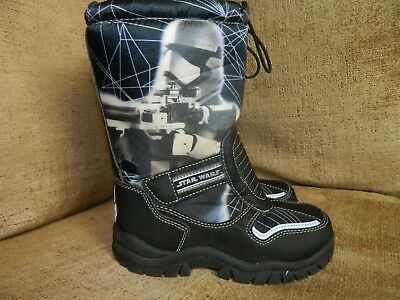 Boys  Storm Trooper Starwars Snow Boots Uk12 Eu31  Used Once