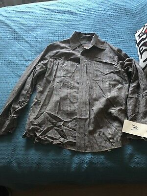 Western Costume Co Hollywood Production Worn 1950 Work Wear Button Up Shirt