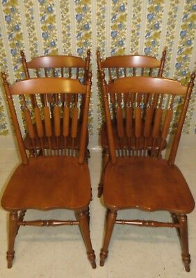 4 Tell City Cattail Cat tail Dining Room Side Chairs Hard Rock Andover Maple