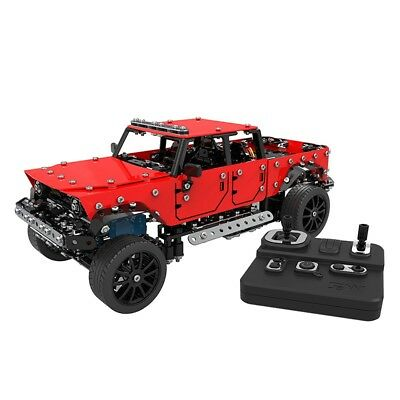 Kids Model Toy 2.4GHz 1/16 4CH Stainless Steel RC Assembly Vehicle Jeep Truck