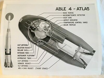 OFFICIAL U.S Air Force Photo Able 4 Atlas Rocket
