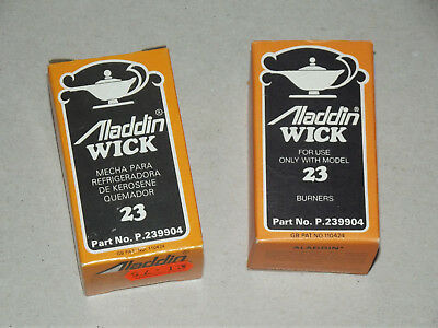 Pair of, Aladdin Lamp 23 Spare Replacment Wick, new boxed vintage unused stock