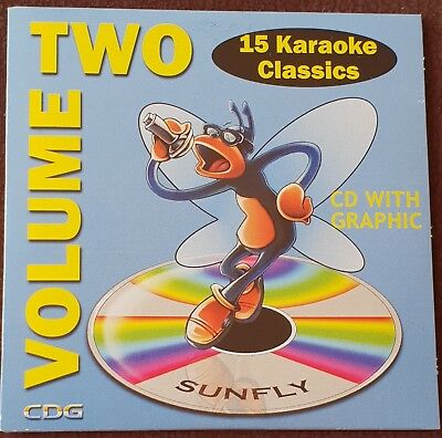 Sunfly Karaoke CD+G CDG His Nr 02 One 15 Classis Hits Audio + Graphic