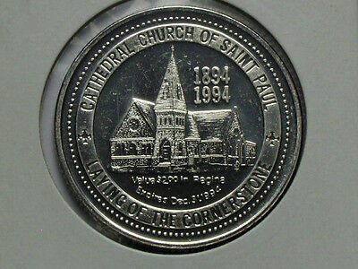 Regina Cathedral Church of St Paul 1894-1994 2 DOLLAR Commemorative Token/Medal