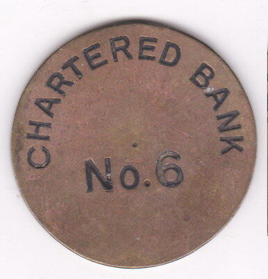 Chartered Bank No. 6 - riesige Medaille 47 mm - 0367