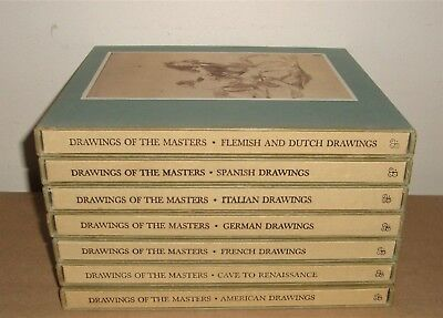Drawings of the Masters 7 VOLUME SET - ART BOOKS w/ SLIPCOVERS 1963-64