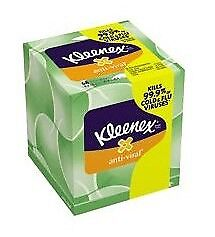 Kleenex Boutique Anti-Viral Facial Tissue, White, 8-1/5 X 8-1/5 Inch, Case of 27