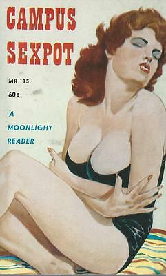 A Moonlight Reader MR 115 Campus Sexpot Rare Vintage Sleaze Paperback Original