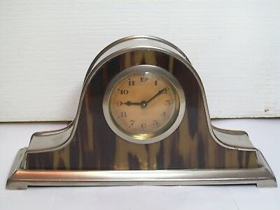 Antique Faux Tortoiseshell  Art Deco Mantel Clock All Working Order