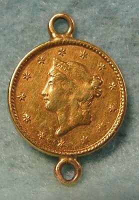 1849 Liberty Head $1 US GOLD Coin VF-XF Details
