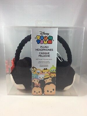 Disney Tsum Tsum Plush Headphones Mickey & Minnie Mouse Brand New