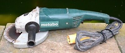 METABO W2000 CORDED 110V 230mm ANGLE GRINDER WITH DEAD-MANS PADDLE