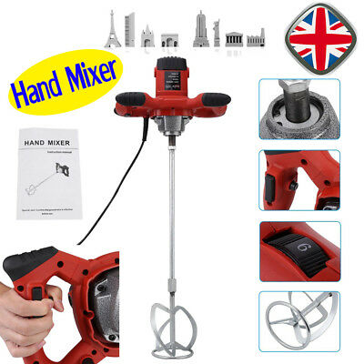 Paddle Mixer Drill - Cement Stirrer 1500W With 6 Speed Paint Feed Cement Mixing