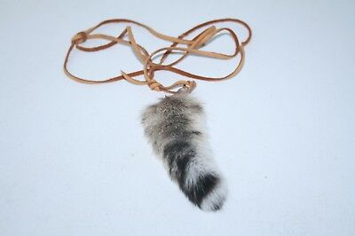 Bobcat tail necklace,  v383 .. , ....Mountain Man Necklace......