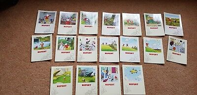19 nice unused Rupert The bear 1993 postcards in excellent condition