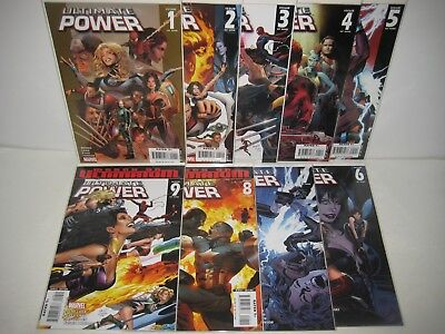 Ultimate Power (2006) #1-9 Complete Mini Series First Print Bendis & Land