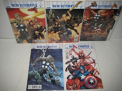 Ultimate New Ultimates complete series #1 2 3 4 #5 (2010 Marvel)