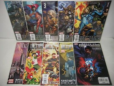 ULTIMATUM #1-5 Requiem Spider-Man Fantastic Four ULTIMATE MARVEL COMICS