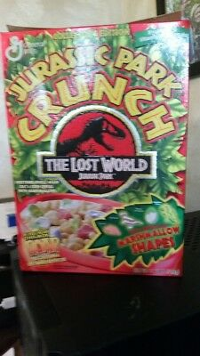 1997 General Mills Jurassic Park Crunch THE LOST WORLD BOX Cereal Box