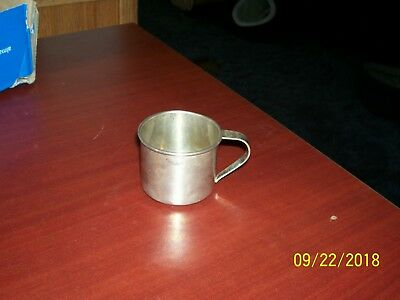 Sterling Silver Baby Cup Mono'd 53.9 Grams
