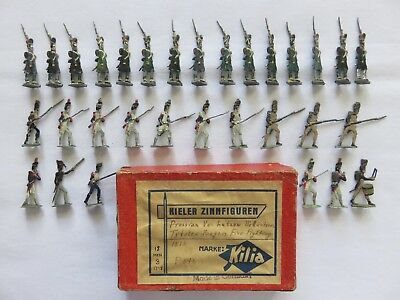Vintage Lot of 31 Lead Flat Toy Figures Soldier Warriors Painted Both Sides 2""
