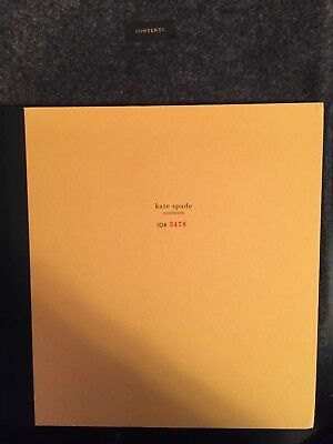 Kate Spade Contents Book RARE Hand Signed Autograph Numbered Limited Edition