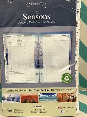 Seasons Two Pages Per Day Insert For Planner