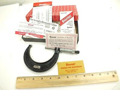 """L.S. STARRETT 2 to 3"""" OUTSIDE MICROMETER - No. 436 - MADE IN USA - 436RL-3"""