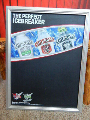 2005 Smirnoff Ice Twisted V 20x27 Framed Promo Advertising Chalkboard Sign-RARE!