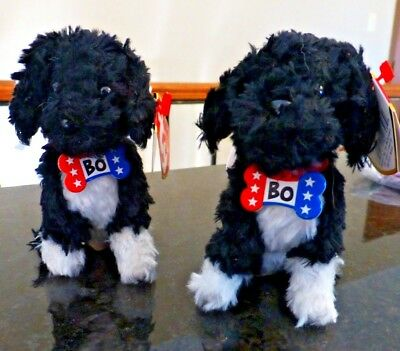 TY Beanie Babies Baby Clips - BO the Obama Portuguese Water Dog - lot of 2